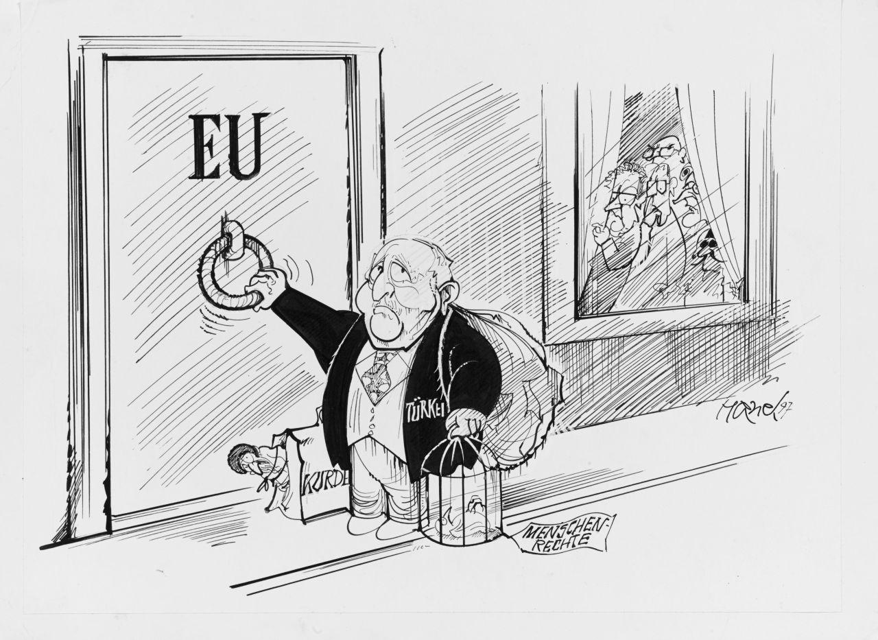 Karikatur Zum Friedensnobelpreis An Die Eu