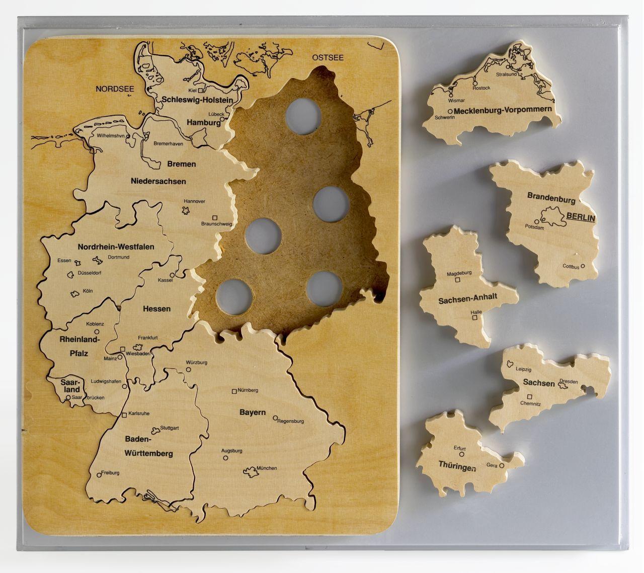 Puzzle Bundesländer der Bundesrepublik Deutschland