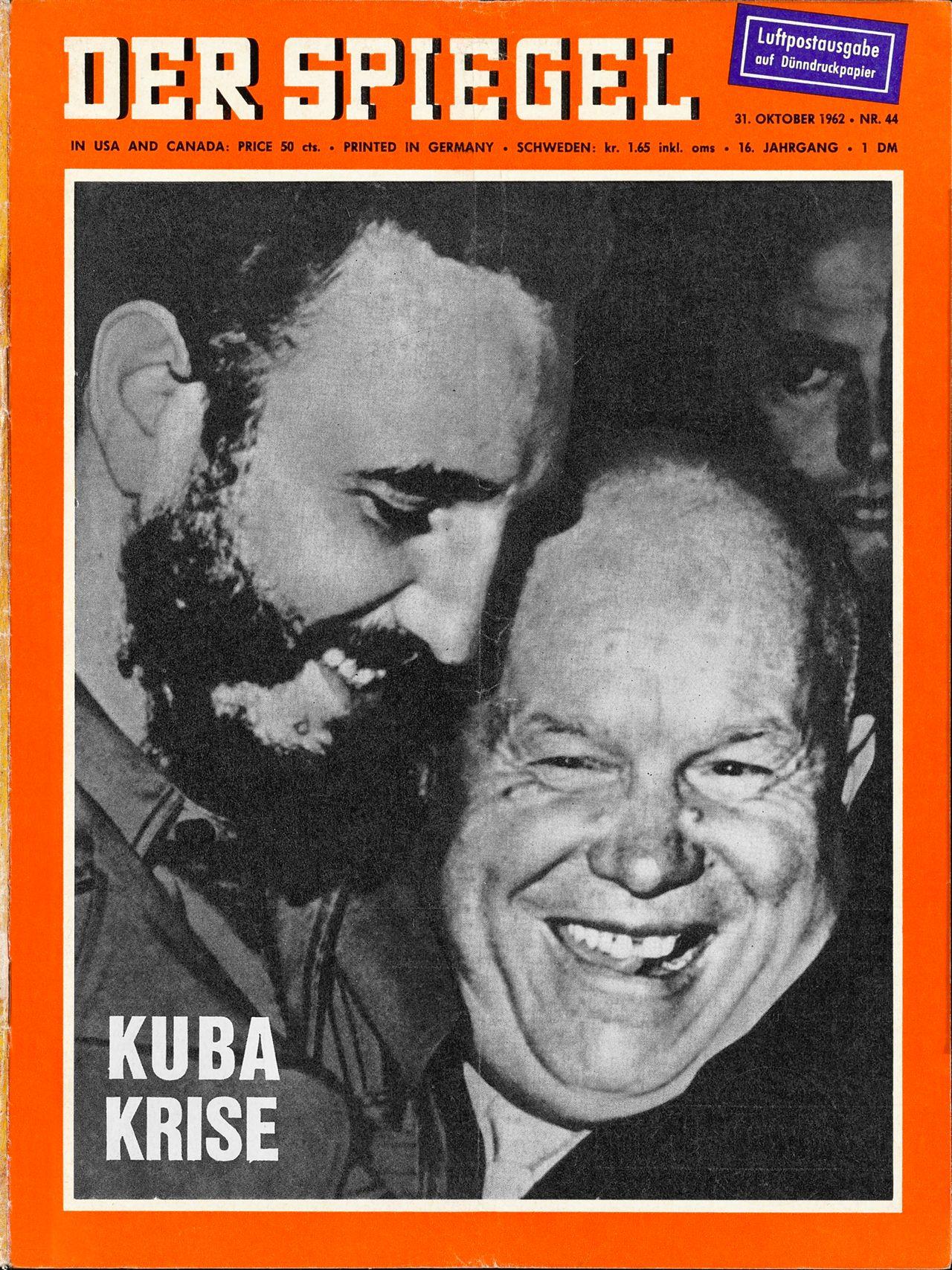 Lemo objekt spiegel ausgabe zur kuba krise for Spiegel titelblatt