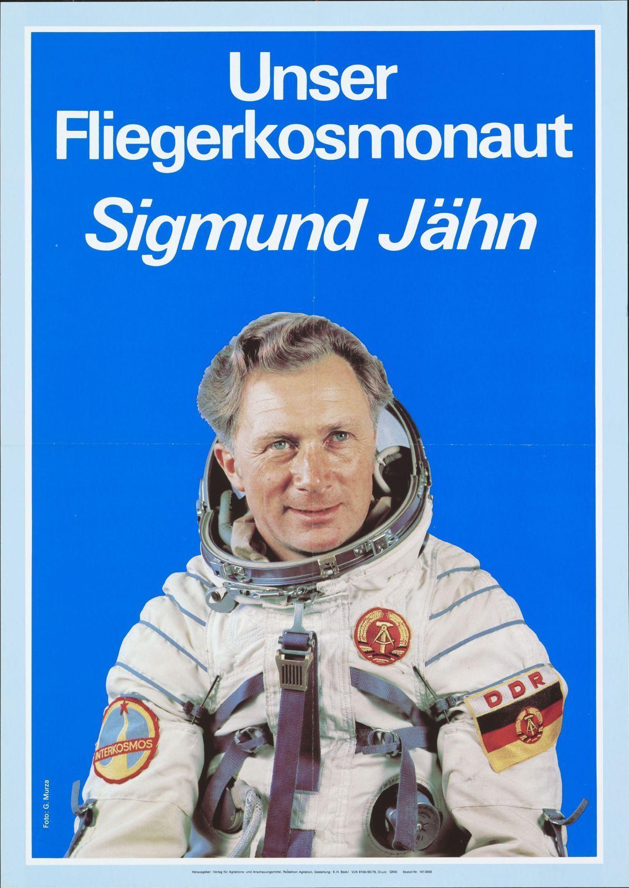 Plakat Fliegerkosmonaut Sigmund Jähn