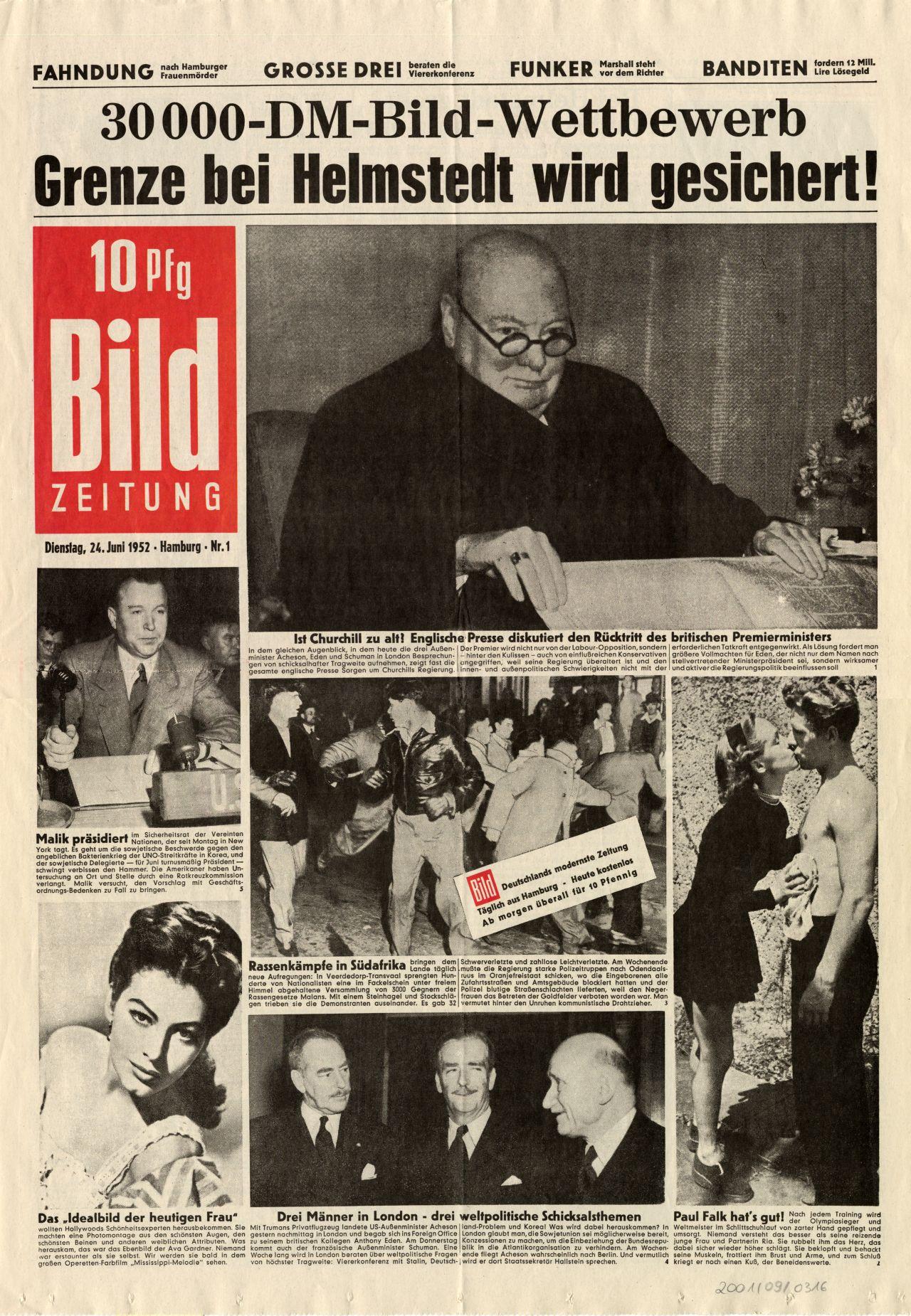 Bild Zeitung Gründung