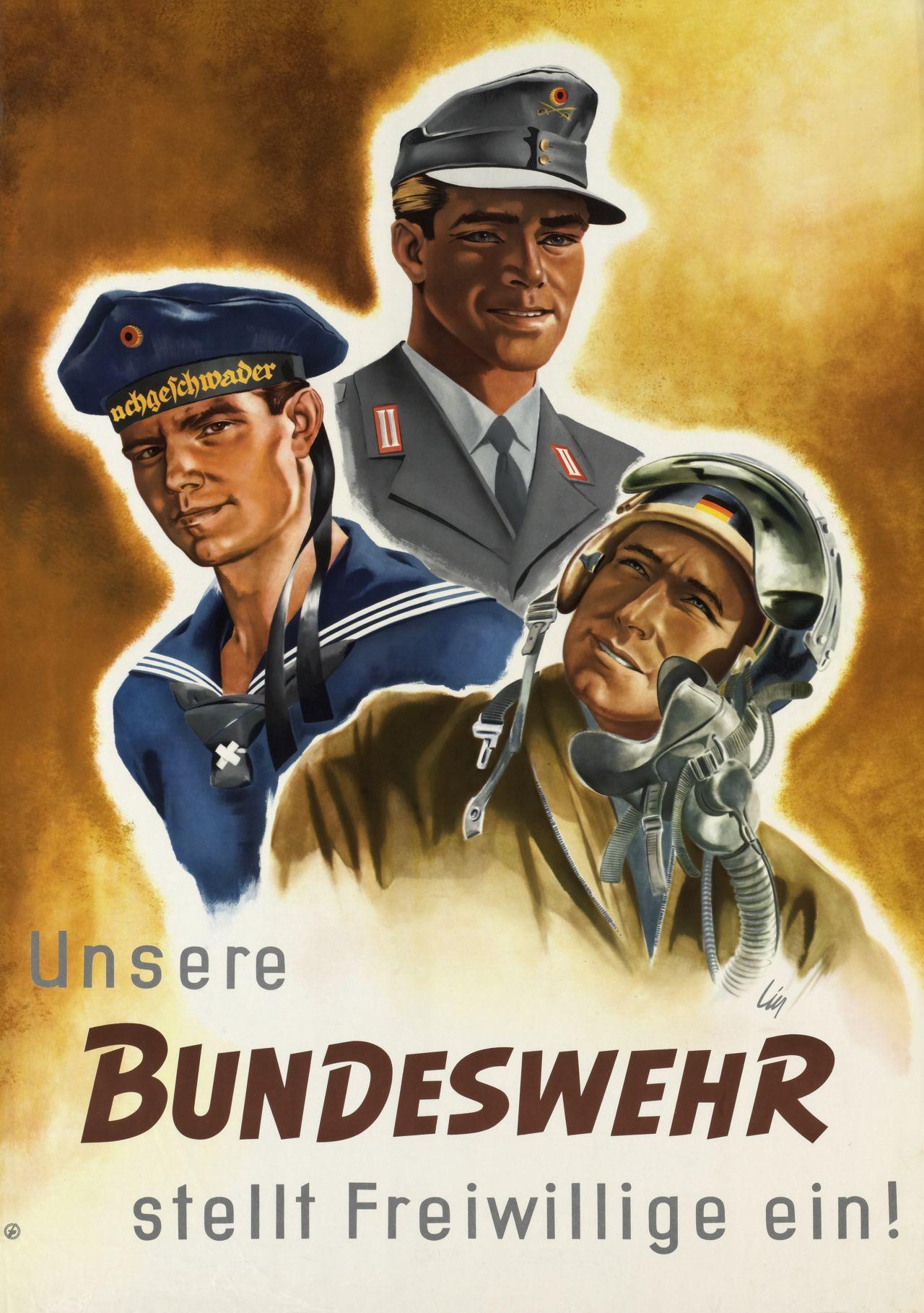 Plakat Unsere Bundeswehr stellt Freiwillige ein