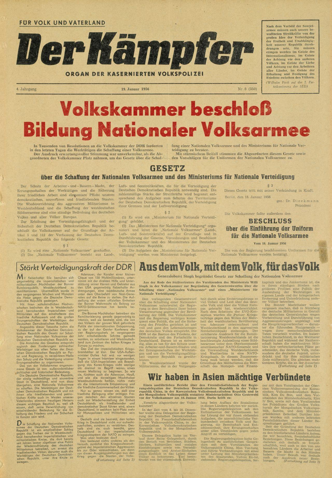 Zeitung 'Der Kämpfer'