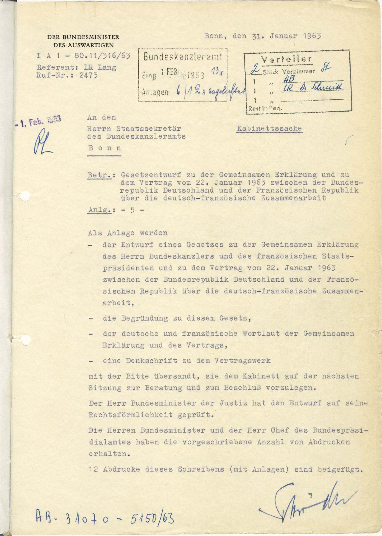 Lemo Objekt Dokument Gesetzesentwurf élysée Vertrag