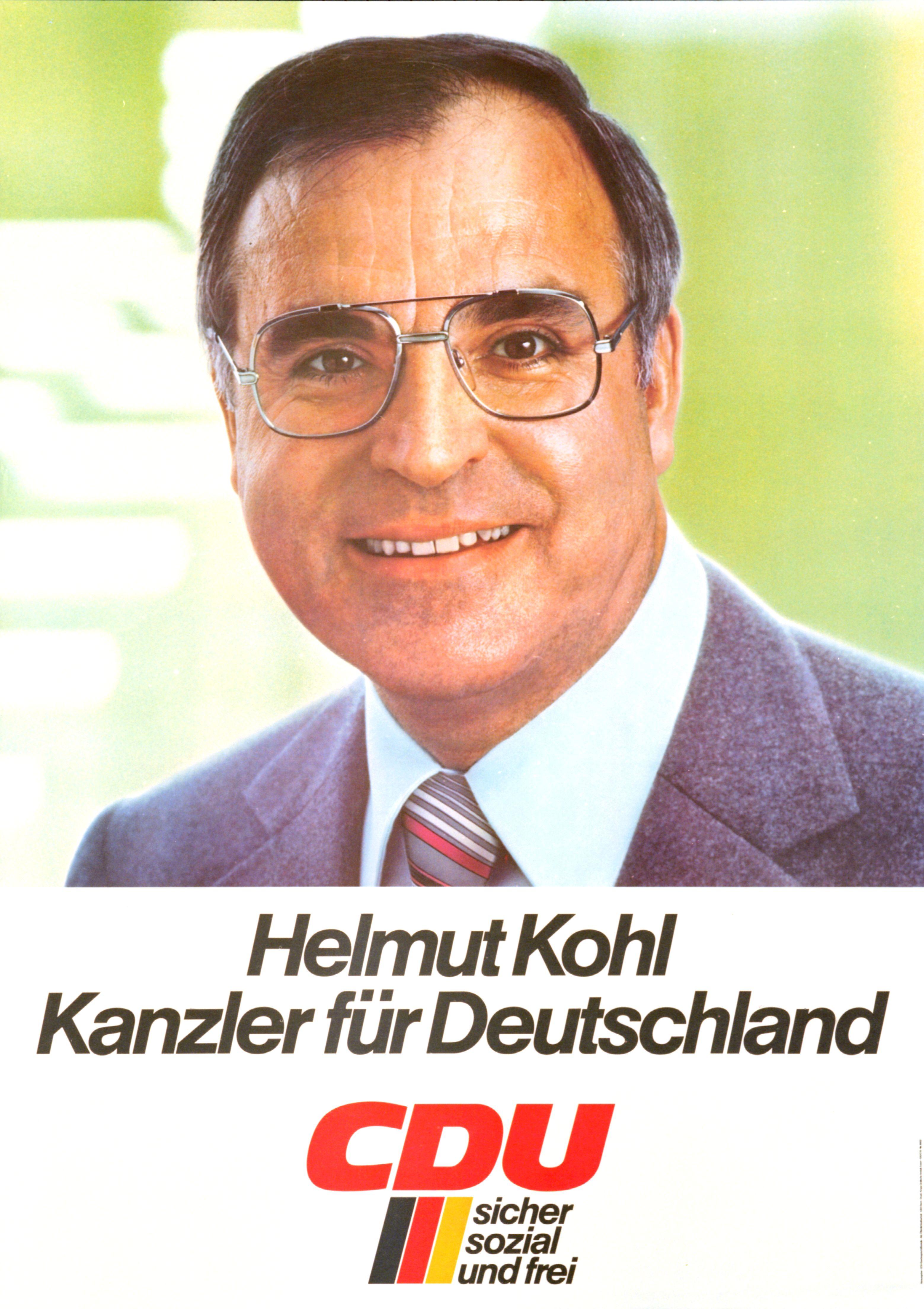 "Plakat ""<b>Helmut Kohl</b>. Kanzler für Deutschland"" - helmut-kohl-kanzler-fuer-deutschland_plakat_1988-2-113-0042"