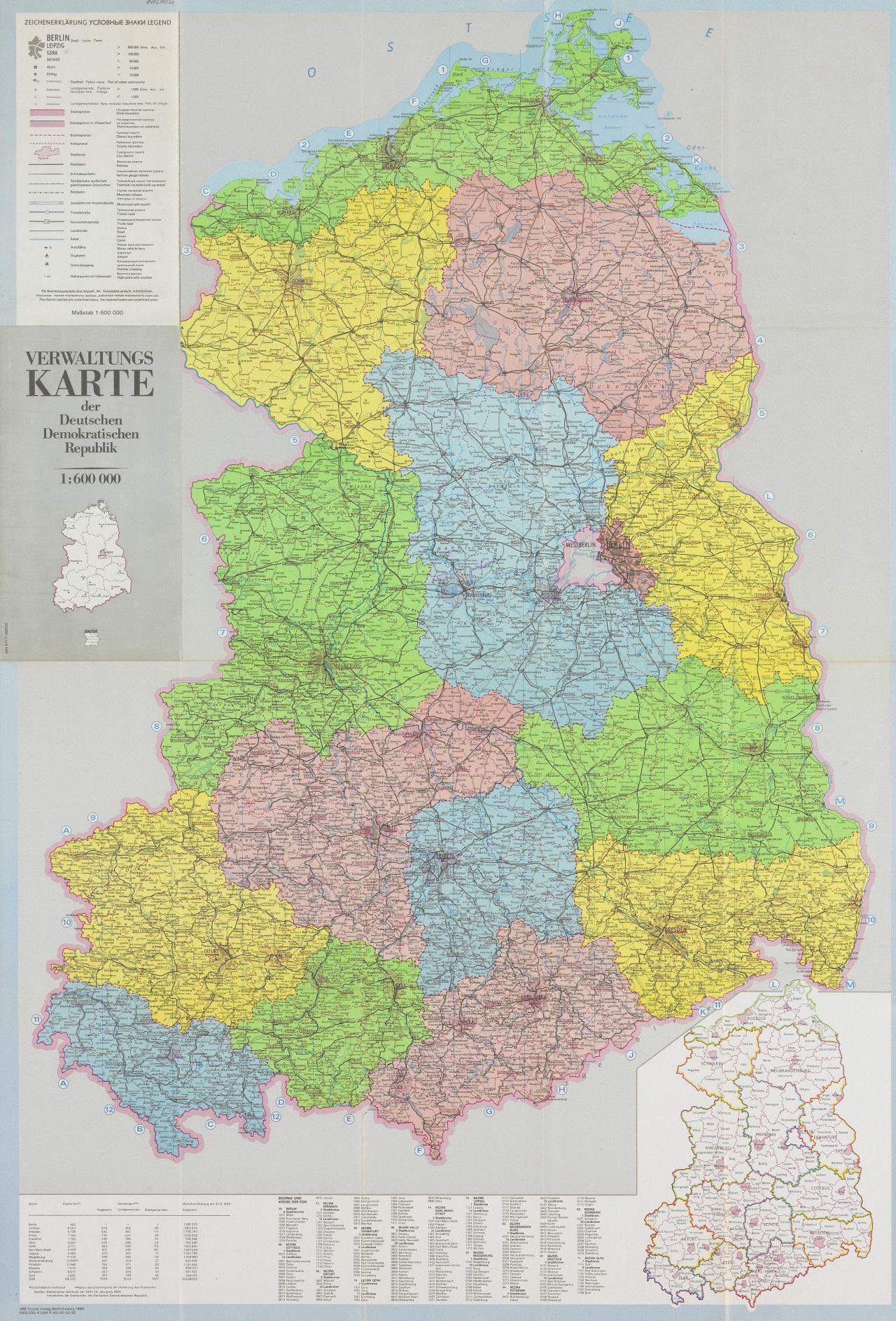 ddr landkarte LeMO Objekt: Verwaltungskarte der DDR ddr landkarte