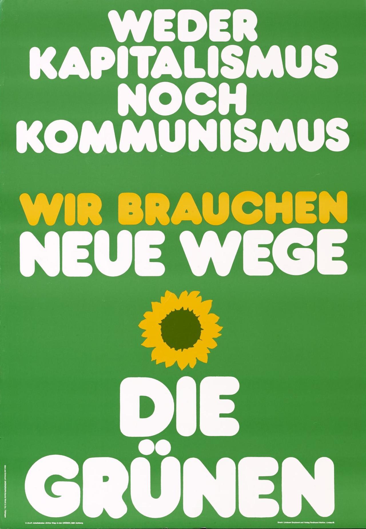 Die Grünen Wahlplakate