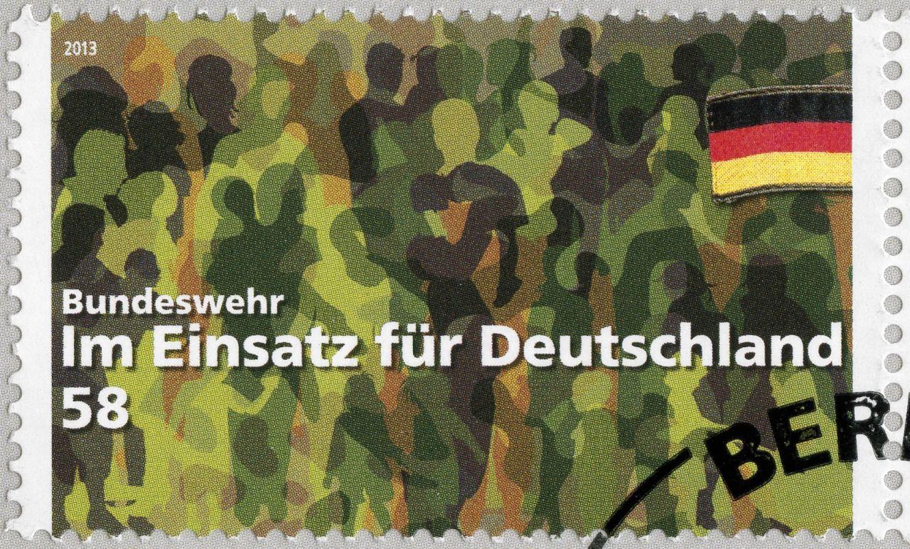 Sonderbriefmarke Bundeswehr - im Einsatz für Deutschland