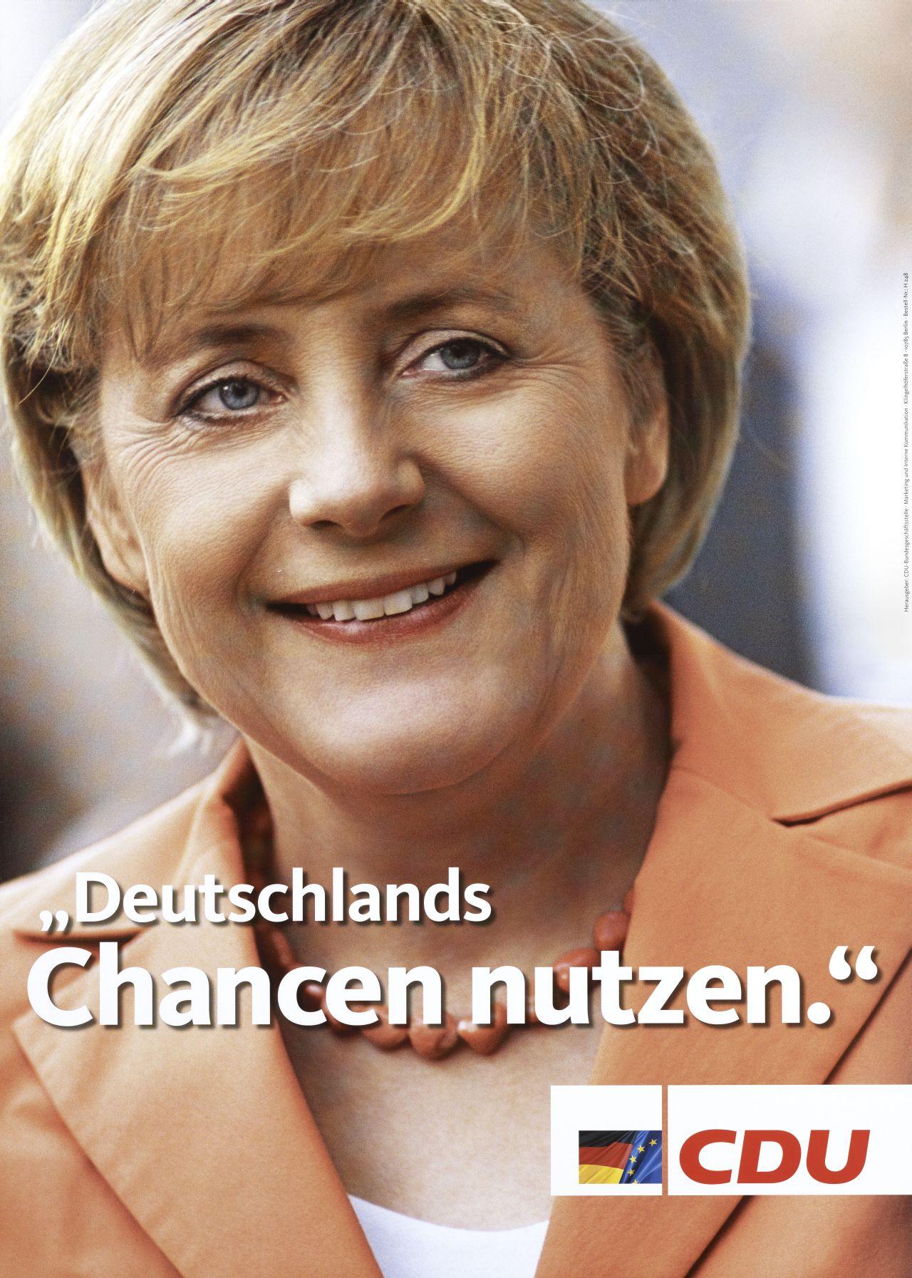 """LeMO Objekt Wahlplakat """"Deutschlands Chancen Nutzen"""" CDU 2005"""